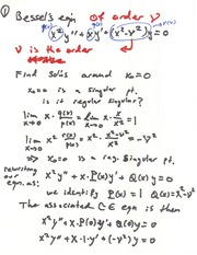 Prof's Bessel Equation Notes