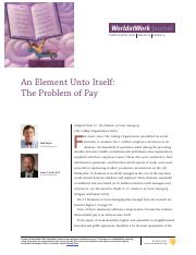 The Problem of Pay