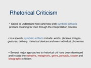 Rhetorical Criticism-2010