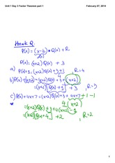 Factor Theorem part 1