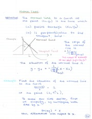 CHE 120 Normal Lines Notes