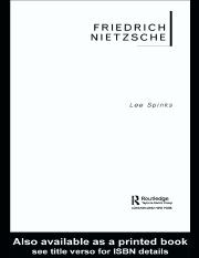 Friedrich Nietzsche (Routledge Critical Thinkers) - Lee Spinks.pdf