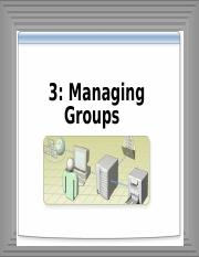 3-Managing Group