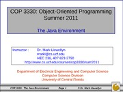 The Java Environment