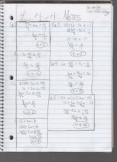 Chapter 4.4 & 4.5 Notes Algebra I
