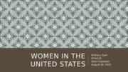 Women in the United States Presentation
