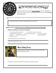 Six-Word Memoir Worksheet.pdf