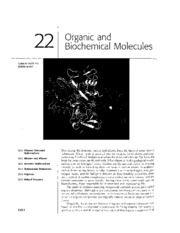 Chapter 22 - Organic and Biochemical Molecules