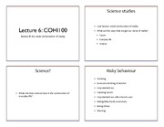 Lecture 6  - Science & Technology