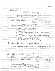Solution to 2nd Order Differential Equation Notes