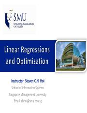 2_Regression & Optimization