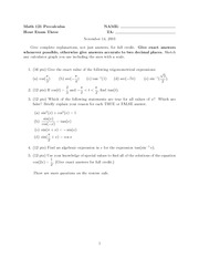 sample3exam3 (Math 121)