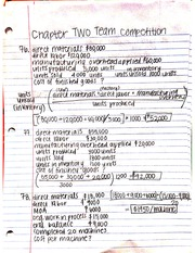 Chapter 2 Job Order Costing Team Competition Answers