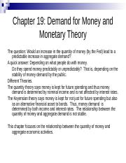 Chapter 19-Demand for Money-13.ppt