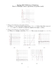 Midterm 2 sp 2007 Solutions