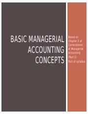 BASIC MANAGERIAL ACCOUNTING CONCEPTS Chap 2 Part 1.pptx