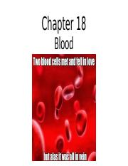 anatomy chapter 18 lecture - blood