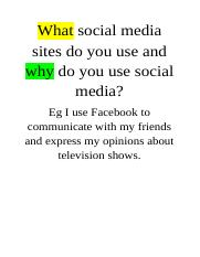 What social media sites