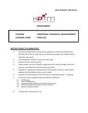 Contoh Report Assignment Kptm