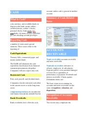CH 7 Cash and Receivables Notes