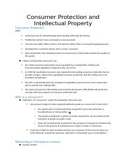 wk 10 - Consumer Protection and Intellectual Property.docx