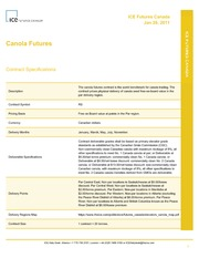 Canola contract