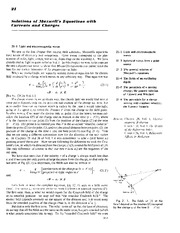 Feynman Physics Lectures V2 Ch21 1962-12-10 Solutions Maxwells Eqns Currents Charges
