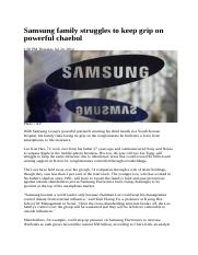 Samsung family struggles to keep grip on powerful chaebol.docx