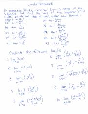 Limits at infinity homework-1