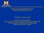 Lecture 4 Maternal Mortality