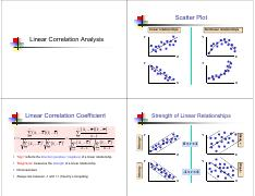 09 Linear Correlation and Regression