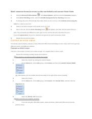 Mark common formula errors on the worksheet and correct them there.docx