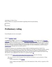 Preliminary ruling - Wikipedia, the free encyclopedia