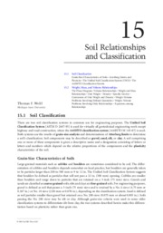 Soil Relationships and Classification