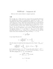 Math 443 Assignment #3