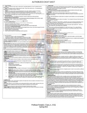 AUTHORIZED CHEAT SHEET TORT and CRIMINAL LAW