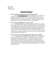 HST197- Informal Writing 3