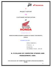 HONDA (customer satisfaction)
