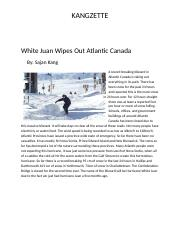 White Juan Wipes Out Atlantic Canada.docx