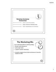 Chap 12a - Dimensions of Marketing Strategy