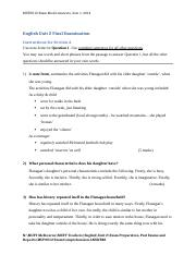 Unit 2 English Exam Semester 1 2014 Advanced Comprehension Answers (1).docx