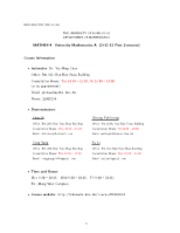 Course information (1804)(2011-12 1st semester)