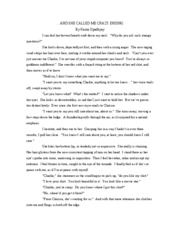 creative writing- finish crazy story
