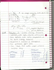 Ch. 3 Global Energy Balance Notes