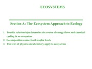 Ecology Ecosystems - Notes