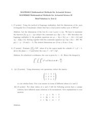 MATH 1813 2013 Test 2 Solutions