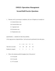 OM323+2nd+Half+Practice+Questions+Fa12