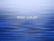 Lecture 4 - Water and pH(1)