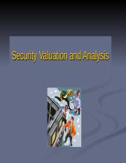 Chapter 12 Secuirty Valuation and Analysis.ppt