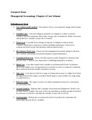 Gurpreet Kaur - Chapter 4 Managerial Accounting